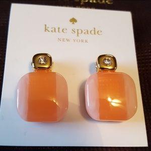 🌺Kate Spade Blush color block earrings